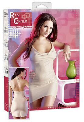 Glitzer Minikleid - Gr. XS - Red Corner, neu OVP Geschenkbox, sexy, hautfarben