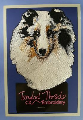 Sable Shetland Sheepdog Sheltie Embroidered Patch or Embroidered Hat