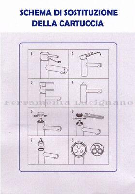 Cartuccia Valvola Universale Ricambio Per Rubinetti Miscelatore Mm.35 - 40
