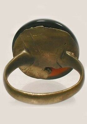 AD300 Ancient Roman Pannonia (Hungary) Ring Sz10 Antique 21ct Burgundy Agate Gem 4