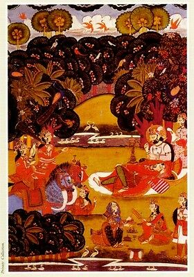 Indian Miniature Painting Color Rajasthani Mughal Deccani Pahari Manuscripts Pix 8 • CAD $44.45