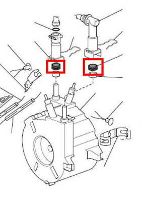Delonghi Nespresso guarnizione doppia tubo caldaia Lattissima Magnifica Intensa 4
