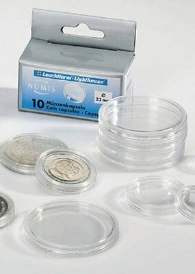 Pack of 10 to 100 Lighthouse Round Coin Classic Capsules All Sizes 28mm to 41mm 2
