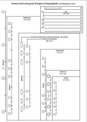 Filofax A5 Meetings Planner - 25 sheets - B341315