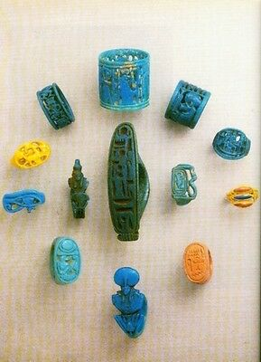 Ancient Egyptian Jewelry Makers Materials Techniques Amulets Diadems Rings Color 5