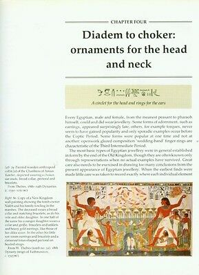 Ancient Egyptian Jewelry Makers Materials Techniques Amulets Rings Diadems Color 7 • CAD $221.98