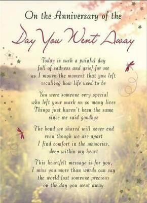 Memorial graveside card Mum Dad Sister remembrance plastic coated waterproof 6