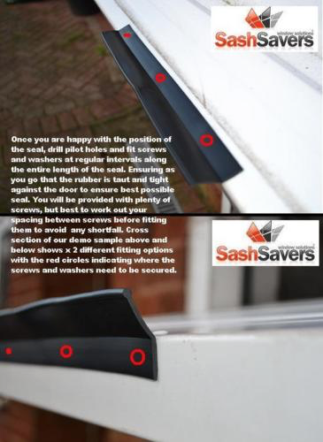 Garage door weather seal rubber draught proofing - easy fit - insulate 9