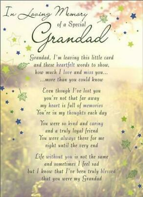 Memorial graveside card Mum Dad Sister remembrance plastic coated waterproof 9