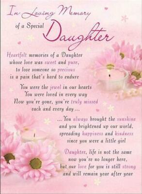 Memorial graveside card Mum Dad Sister remembrance plastic coated waterproof 5