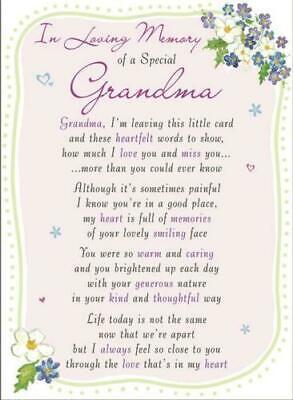 Memorial graveside card Mum Dad Sister remembrance plastic coated waterproof 10