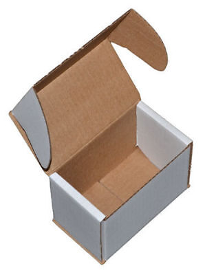 White Die Cut Folding Lid Postal Cardboard Boxes Small Mailing Shipping Cartons- 3