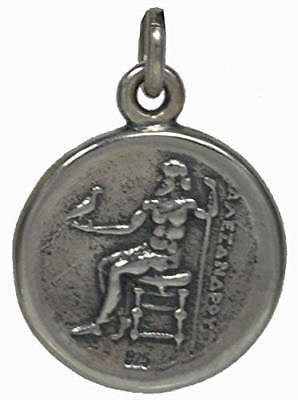 Alexander The Great Hercules Sterling Silver Pendant - Macedonia Vergina King 2