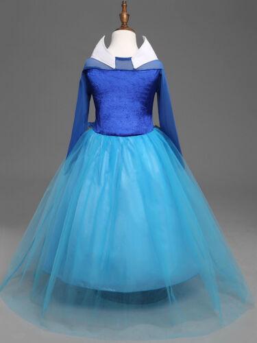 Elsa Kleid Eiskönigin Frozen Kostüm Prinzessin Krone Diadem Karneval Kinder Set