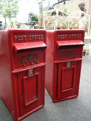ER Royal Mail Post Box  ERII pillar box Red cast iron post box post office box 8