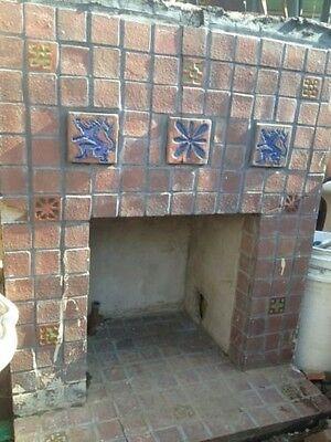 Old Gladding McBean Tile Fireplace GMB Catalina Batchelder Era 2