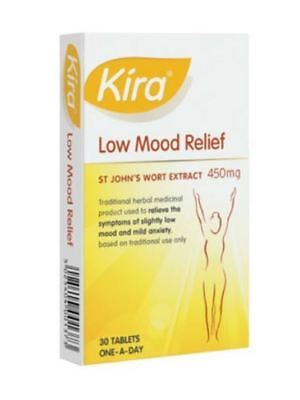 60 Kira Low Mood Relief St John's Extract 450mg Tablets (2 x 30) Exp 10/2020 3