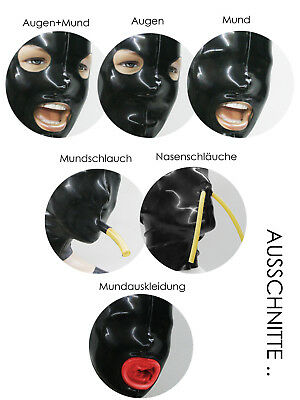 ** LATEXTIL ** Mehrteilig LARGE * Latexmaske Latex Rubber Maske Masque * NEU *