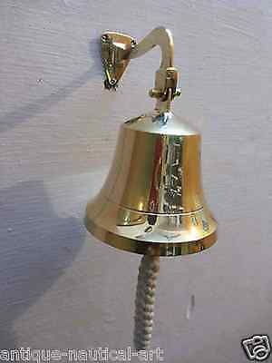 Nautical Brass Ships Wall Bell 15-2 cm with Mounting Bell Gift 2