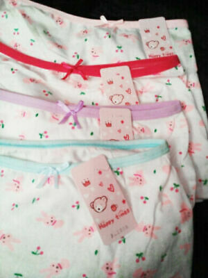 Girls COTTON knickers pants briefs 6 pack boxers shorts age Age 2 4 5 6 7 8 9 Yr 2