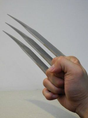 """1 Pair (2 pcs) Full Size 9.45"""" Stainless Steel X Men Wolverine Wolf Claws 2 lbs 5"""