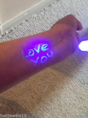 New 6pcs Invisible Ink Spy Pen Built in UV Light Magic Marker Secret Message 4