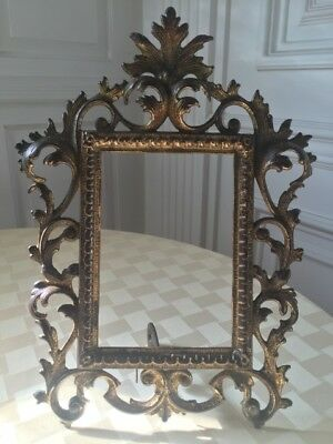 Pair of Old Ornate Cast Iron Picture Frames 2