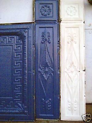 SALE ! Victorian Art Deco Ceiling Tin Tile Geometric Aztec Fleur De Li Chic