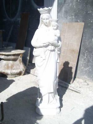 Statua Della Madonna Del Carmine Carmelo Da Esterno In Cemento Marmo E Pietr 8