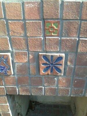 Old Gladding McBean Tile Fireplace GMB Catalina Batchelder Era 3