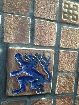 Old Gladding McBean Tile Fireplace GMB Catalina Batchelder Era 10