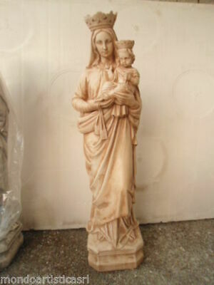 Statua Della Madonna Del Carmine Carmelo Da Esterno In Cemento Marmo E Pietr 3