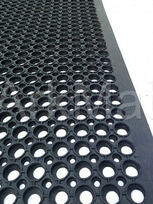 2 x Large Rubber Workplace Anti Fatigue Factory Flooring mats 3ft x 5ft x 12mm 2