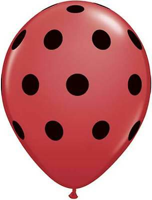 24 pc Red Watermelon Inspired Latex Balloons Green Agate /& Red Polka Dot Summer