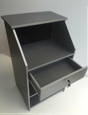 Hair & Beauty Salon Reception Desk with Padded Front - Retail Shop Counter