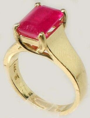 Antique 19thC 3¼ct+ Red Ruby Solid 14kt Gold Ancient Roman Judicial Talisman 5