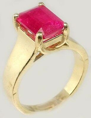 Antique 19thC 3¼ct+ Red Ruby Solid 14kt Gold Ancient Roman Judicial Talisman 7