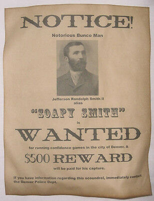 6 Old West Wanted Posters Outlaw Billy the Kid Jesse James Soapy Smith, more 4