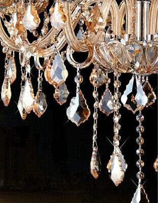 Antique European Italian French CHANDELIER Crystal Silver Champagne 6 Arm Light 11