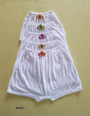 3 PACK GIRLS Knickers AGE 1-8 YEARS WHITE COTTON SCHOOL KNICKERS SHORTS BRIEFS 3