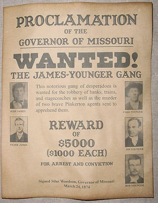 5 Old West Posters Outlaw Billy the Kid Jesse James Geronimo Doc Holliday wanted 5