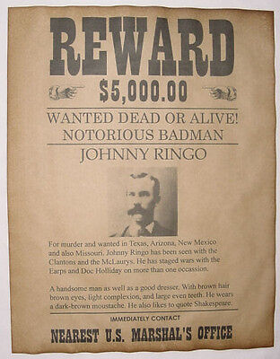 6 Old West Wanted Posters Outlaw Billy the Kid Jesse James Soapy Smith, more 5
