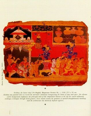 Indian Miniature Painting Color Rajasthani Mughal Deccani Pahari Manuscripts Pix 4 • CAD $44.45