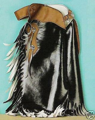 Kid's ~RODEO CHAPS~ Mutton Bustin'/Buster - BLACK-BROWN Costume Vinyl