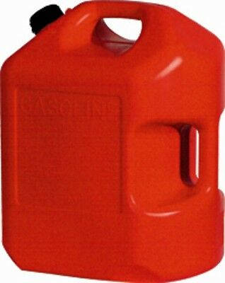 Plastic Gas Cans >> 2 Midwest 6600 6 Gallon Red Plastic Gas Cans Containers W