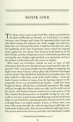 Ancient Rome Civil War Lucan Pharsalia Julius Caesar Pompey RARE OOP 1957 H/C 5