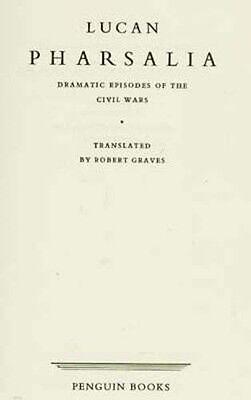 Ancient Rome Civil War Lucan Pharsalia Julius Caesar Pompey RARE OOP 1957 H/C 4