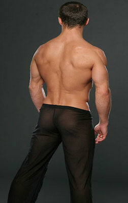 Pantalon sheer taille L noir totale transparence sexy neofan gay inter SEUL P 7