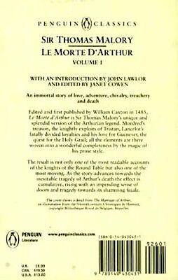 Le Morte D'Arthur  Written 1485AD Camelot King Arthur Lancelot Guinevere Knights 4