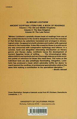 Ancient Egyptian Literature III: Late Period 10thC BC-1stC AD Hymns Biographies 2